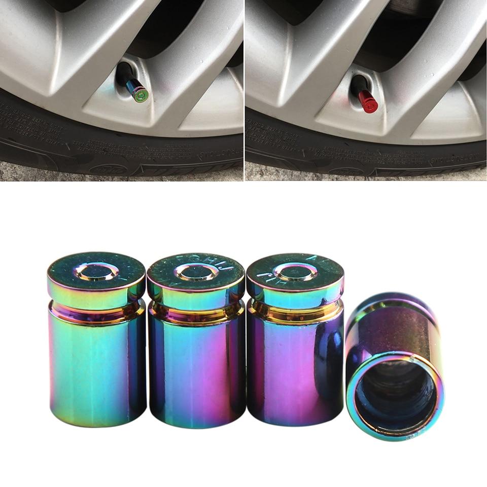 4Pcs Prank Tire Cap Universal Luminous Car Wheel Tire Valve Stem Caps Dust Cover for Trucks Cars Motorcycles Bikes