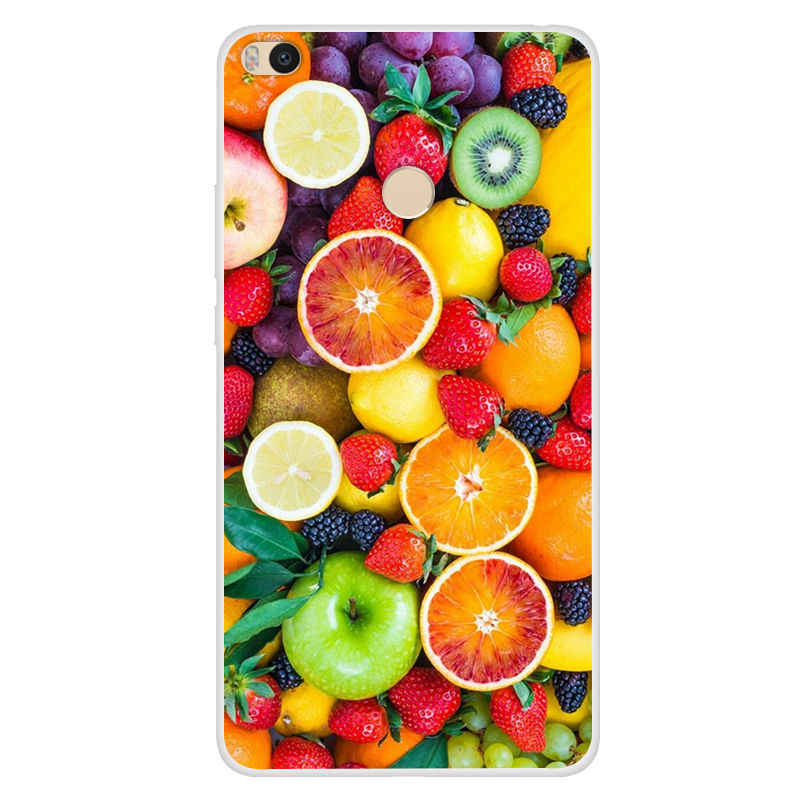 For Xiaomi Mi Max 2 Phone Cases Silicone Back Cover For Xiaomi MiMAX2 Mi Max2 64gb Fundas Funny Girls Fashion Tower Fruit Lion