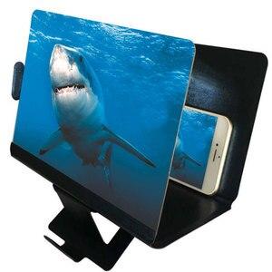 Image 2 - Универсальный мобильный телефон 3D Экран HD видео усилитель увеличительное Стекло Подставка Кронштейн Автомобильный держатель для телефона на магните практичный проектор домашнего кинотеатра