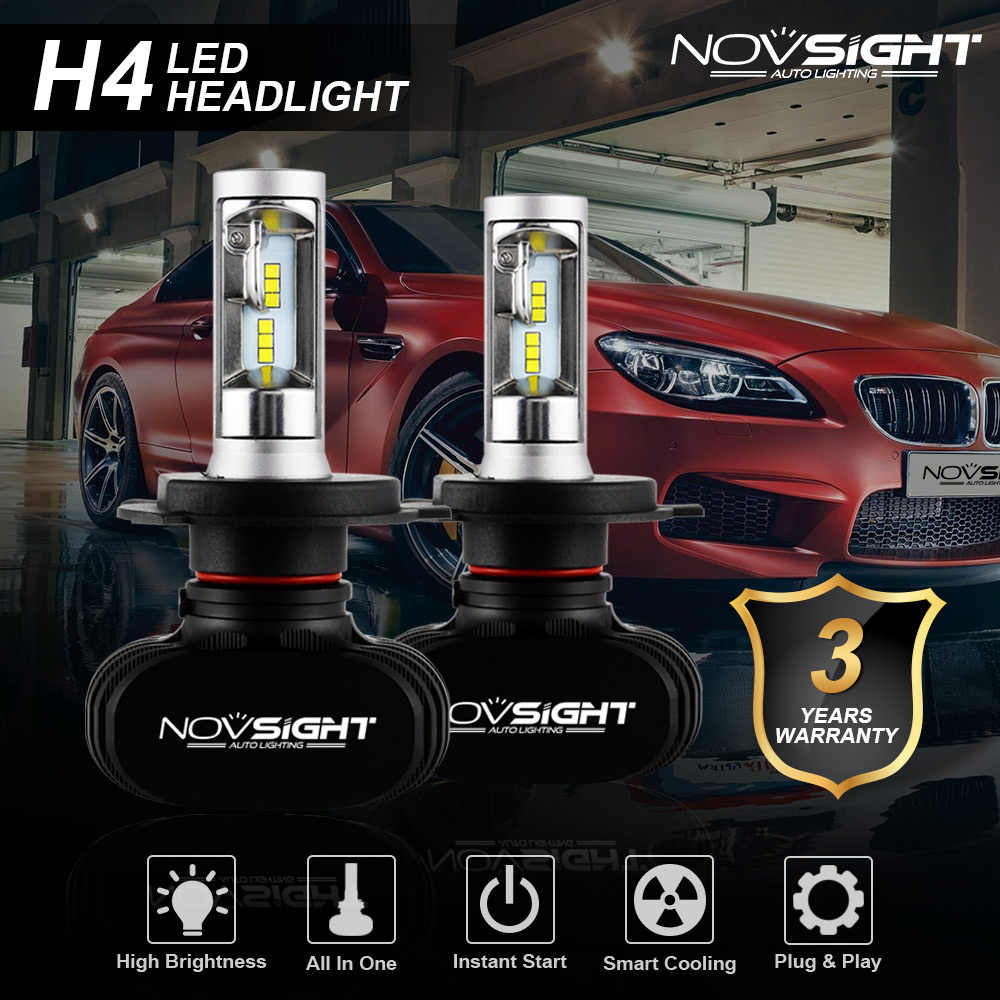 NOVSIGHT Led H4 H7 H8 H9 H11 8000LM 50W 6500K Car LED Headlights White Fog Lamps 9005 HB3 9006 HB4 Fog Light Bulbs CSP LED Chips