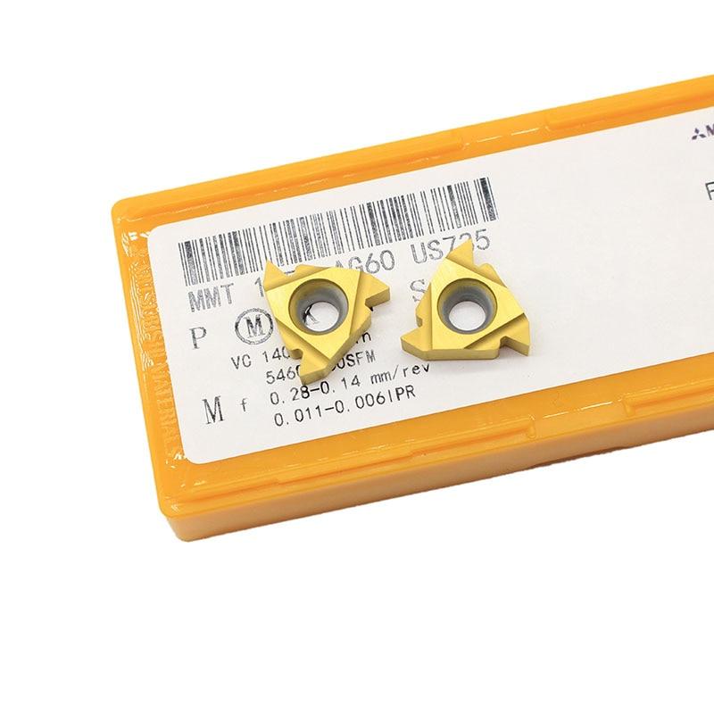 16ER AG60 US735 / UE6020 / VP15TF  Cutting Tool CNC Lathe Thread Turning Tools  Carbide Inserts