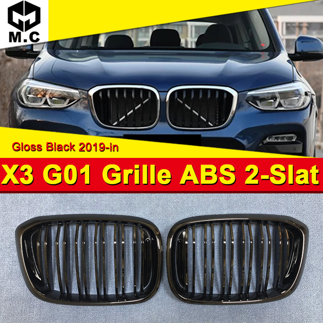 X3 G01 M Performance Accessory black kidney grille grill ABS Fits For BMW  style Front Kidney Grills Mesh 1 Pair 2019 in