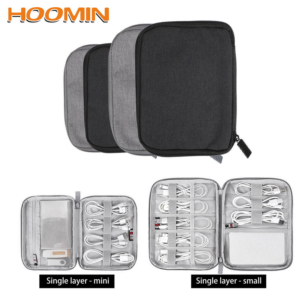 Digital Storage Bag USB Data Cable Organizer Earphone Wire Bag Pen Power Bank Travel Kit Case Pouch Electronics Accessories