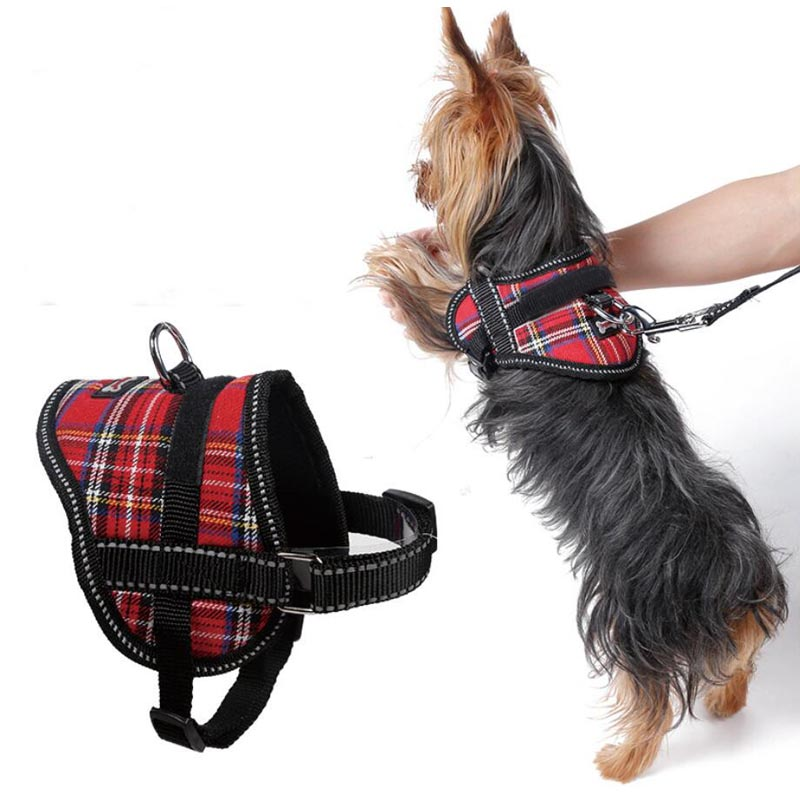 Puppy Cat yorkie terrier chihuahua Pet Dog Harness Breathable breast-band dog ID tag Strap Soft Walk Vest Collar For Small pets ...