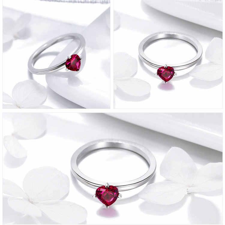Wostu 100% 925 prata esterlina multi-estilo delicado anéis de casamento para mulheres coroa coração abelha original anel de noivado jóias
