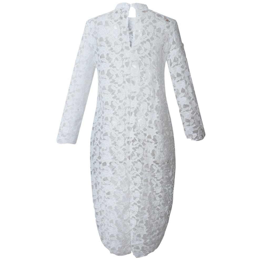 Womens tops en blouses zomer lange mouw wit overhemd nieuwe collectie 2019 streetwear hollow uit hoge lage kant top plus maat 101088