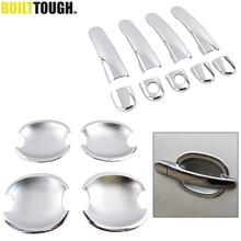 For Vw Passat B5 Golf Mk4 Jetta Bora 1999 - 2004 Chrome Door Handle + Door Bowl Cover Cup Trim Bezel 2in1 2000 2001 2002 2003(China)