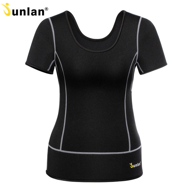 71d4c38761 Junlan Women Body Corset Neoprene Slimming T-Shirt Sauna Vest Female Waist  Trainer Tummy Control Bodysuit Modeling Strap Shapers