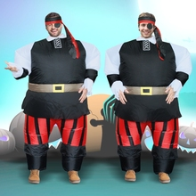 new 2016 adult Fat man inflatable Costume Halloween festivals funny walking play pirates dress collection sumo suits Free shippi(China)