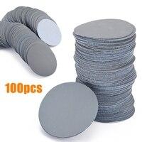 100 pçs 3000 disco de lixadeira grit 3 polegadas lixar almofadas de polimento de papel lixa disco de lixa para ferramentas de lixamento abrasivo