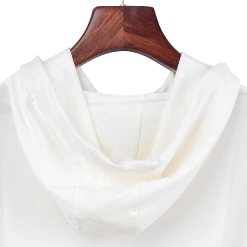 Autumn Spring Top Women's Top Side Pocket Print Casual Long Sleeve Hooded Sweatshirt Hoodies Whiskey Harajuku Riverdale Lil Peep
