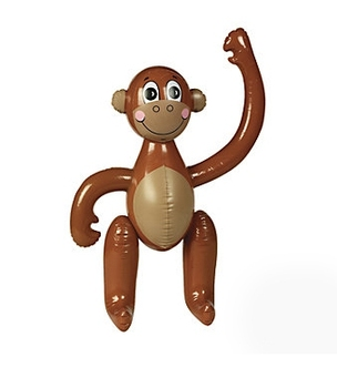 цена на Inflatable Monkey Children Cartoon Toy Simulation Animal Model Stage Party Activity Decoration 2020