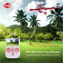 Livre uma bateria extra X5UW Wi-fi FPV Quadcopter Zangão RC Com 720 P HD wi-fi Câmera RTF Modo Headless e Conjunto Barômetro Altura