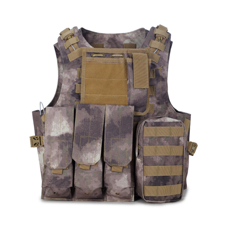 Army Militar Tactical Vest CS Field Camouflage Defensive Outdoor Combat Equipment Hunting Backpack Hiking Camping Camo Ww2 2