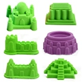 6pcs/lot Building Castle Mold Tool Sand Indoor Play Cay Novelty Magic Beach Mold Seaside Summer Toy Build Model Toy Gifts