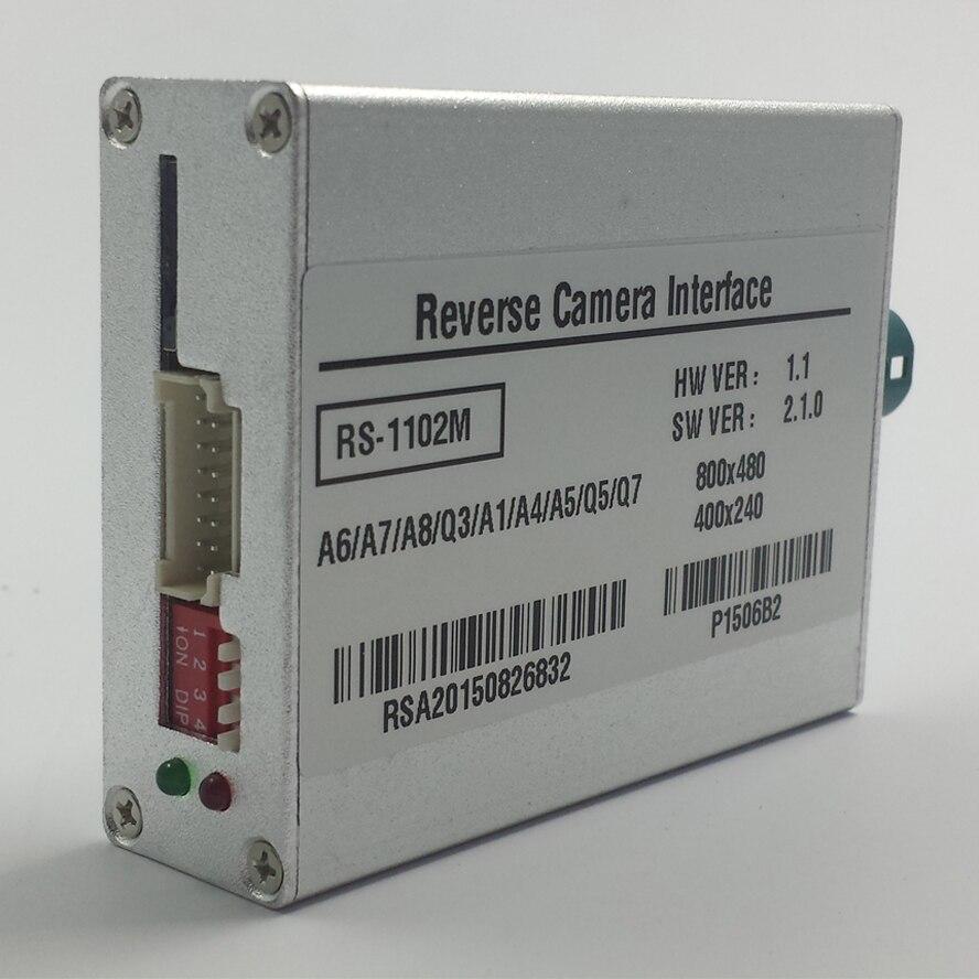 Filaire caméra de recul vidéo interface pour audi mmi 3g plus a1 q3 a4 a5 q5 a6 q7 a7 a8 Parking lignes directrices