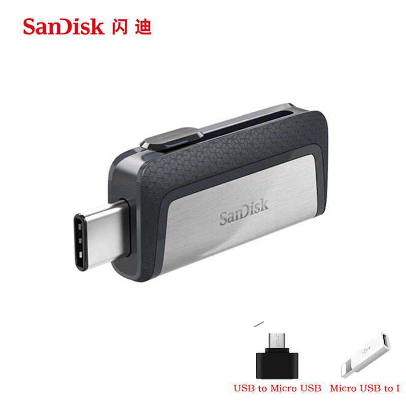 Sandisk USB Flash Drive 16GB 32GB 64GB 128GB 150MBS Type C USB3 1 Dual OTG Pen
