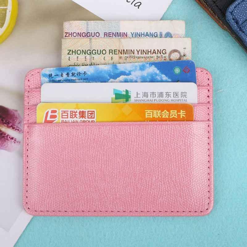 THINKTHENDO держатель для карт тонкий кредитных карт банка идентификационные карточки для монет Чехол сумка кошелек-органайзер Для женщин Для мужчин тонкий Бизнес карты бумажник