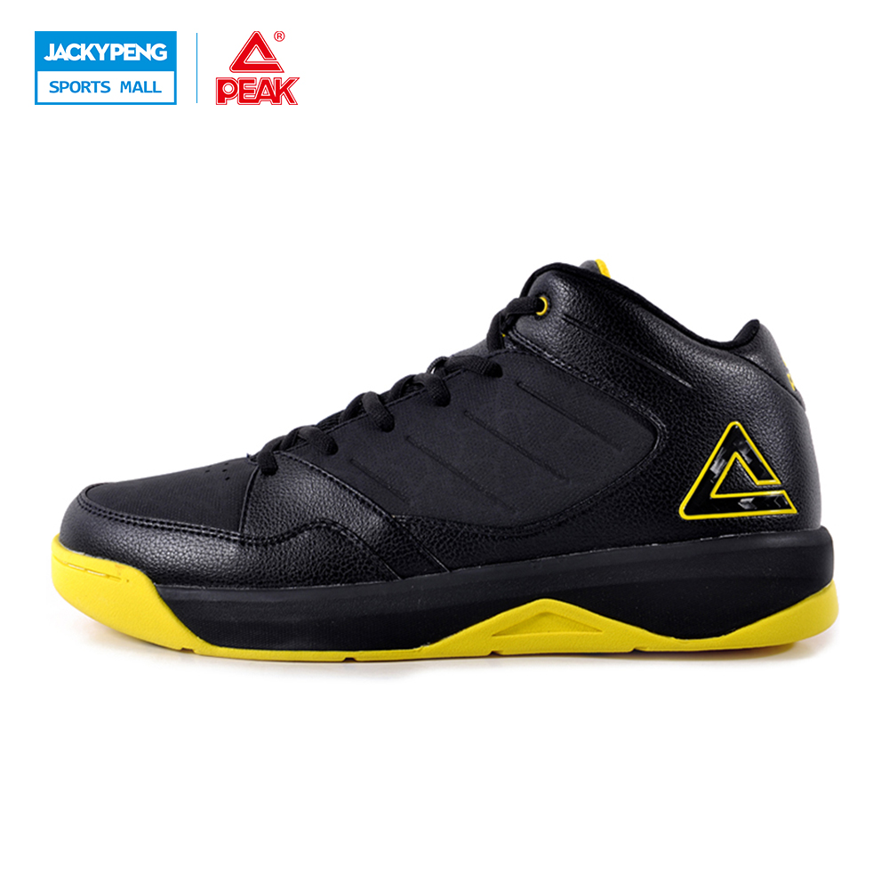 PEAK SPORT Authent Men Basketball Shoes Wear-resistant Non-Slip Athletic Sneakers Medium Cut Breathable Outdoor Ankle Boots peak sport star series george hill gh3 men basketball shoes athletic cushion 3 non marking tech sneakers eur 40 50