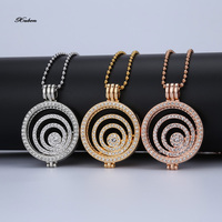 2016 Hot Selling Rose Gold Coin Pendant Necklace For Women Jewelry My Coin Set 35mm Coins
