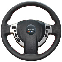 Nappa Leather Steering Wheel cover for Nissan QASHQAI X Trail NV200 Rogue for nissan qashqai x trail braid on the steering wheel