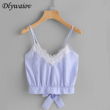 Lace Tank Top Women Sexy Camisole Fashion Bow Split Sleeveless   Tops V-neck Vest Female Chiffon New Casual 2019 Summer Sling 2019 novel summer women camisole fashion sexy simple solid color vest sling loose v neck lace sleeveless camisole tops