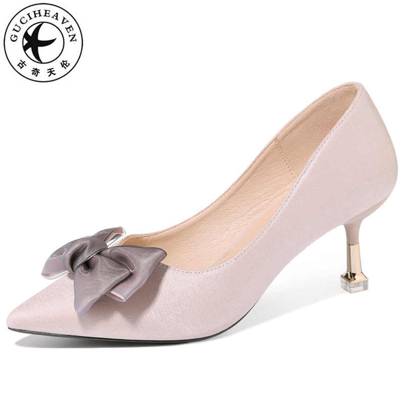 7646a65fad7 Guciheaven 2019 Summer New Hot Sell Classic Butterfly-knot Shoes Pointed  Toe Pumps Sexy Fashion Wedding Shoes Women PU Stiletto