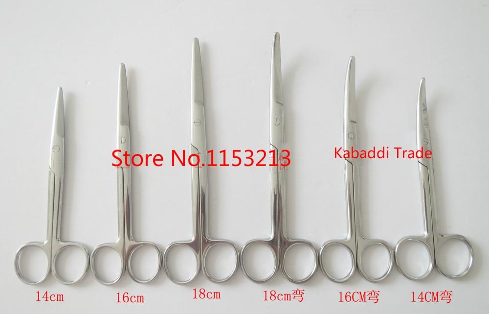Stainless steel Surgical scissors Medical scissors Household scissors Tissue scissors Straight round 14cm/ 16cm/ 18cm