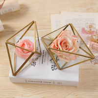 Wedding Engagement Ring Box Jewelry Gift,Wedding Ring Holders ,Geometric glass box, wedding favor Landscape DIY Decorative