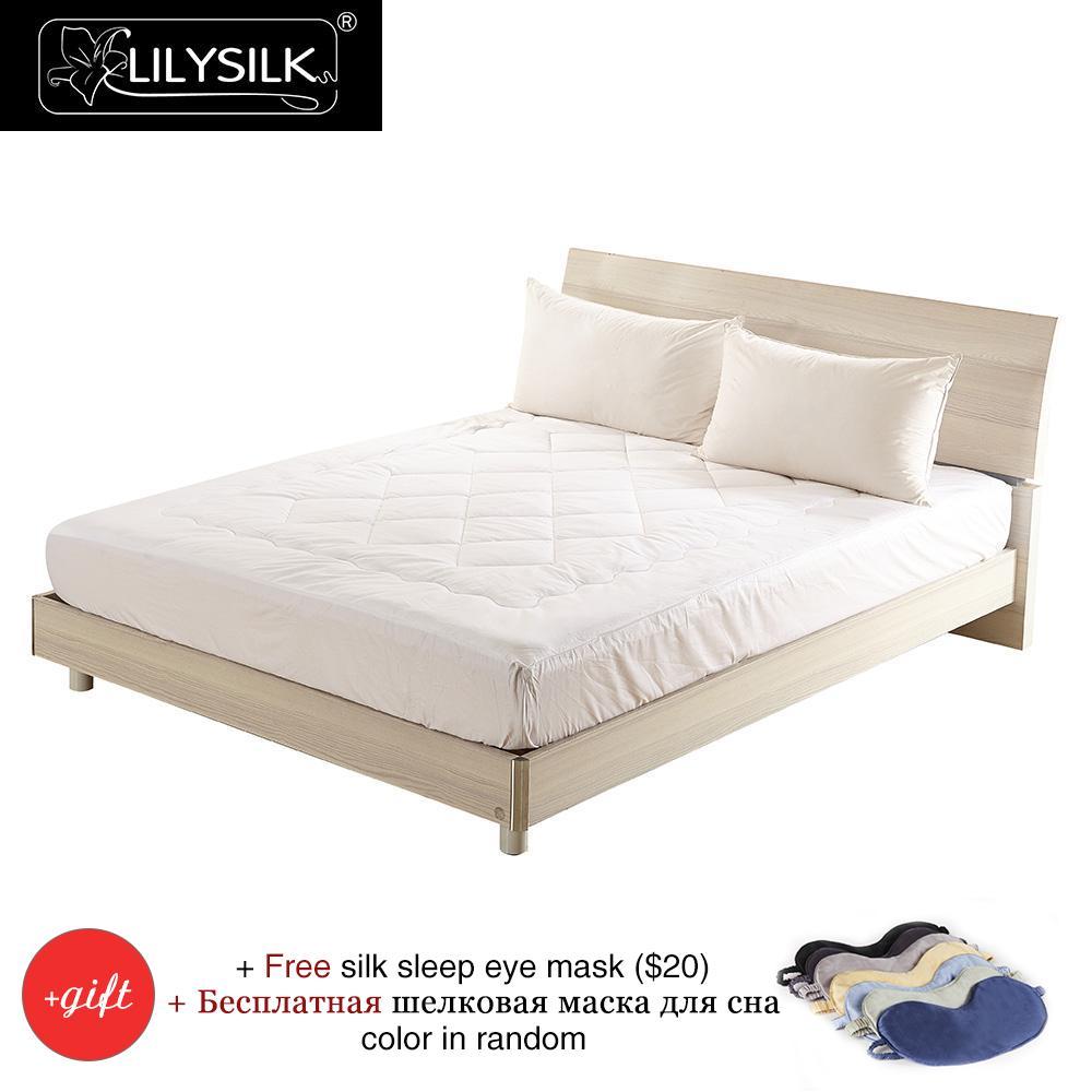 Lilysilk silk filled mattress topper 100 silk deep 25cm for Beds express delivery