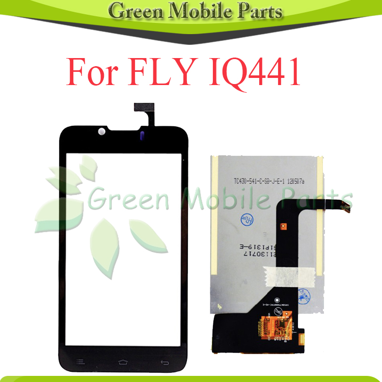 For Fly IQ441 IQ 441 Touch Panel Screen Digitizer LCD Display Screen Free Shipping глюкометр one touch verio iq