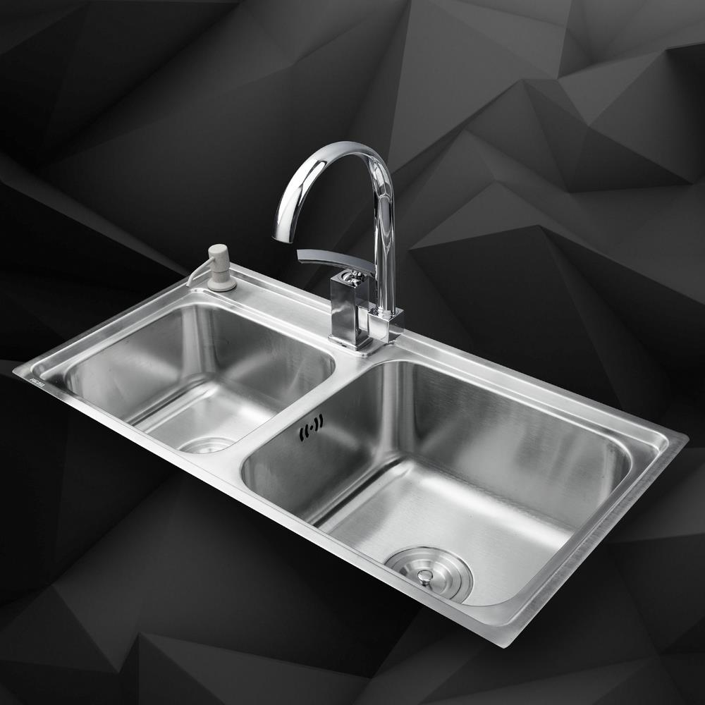 Vessel Kitchen Sink Kemaidi kitchen stainless steel sink vessel kitchen double bowl kemaidi kitchen stainless steel sink vessel kitchen double bowl swivel vanity faucet liquid soap dispenser kitchen mixer in kitchen sinks from home workwithnaturefo