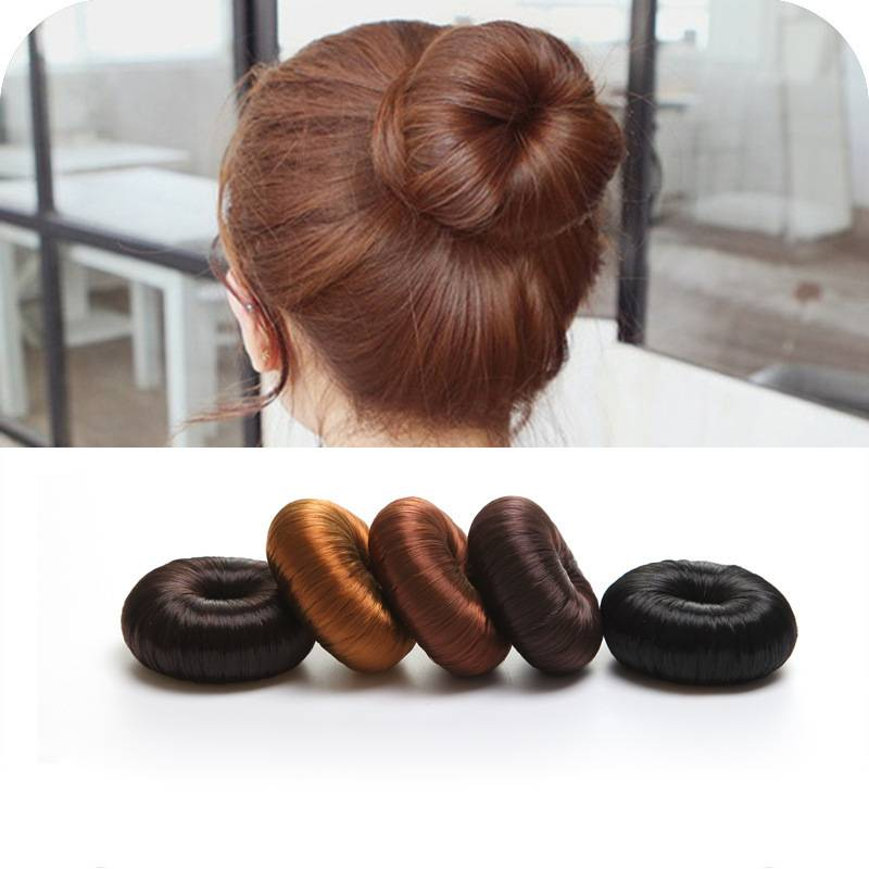 Wig Hair Band Blond Doughnut Hairpiece Hair Bun Mmaker Gift Hair Bands Hair Aaccessories Women Decorations Clips T0018 fashion hair fiber braided bun twisted fake chignonn hairpiece clip buns toupee for women a18