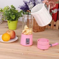 380ml 4 Colors USB Electric Handheld Smoothie Maker Blender Rechargeable Mini Portable Juice Cup Water Bottle