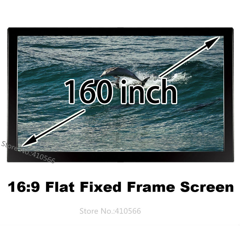 Durable Fixed Frame Projector Screen 160-inch 16:9 HDTV Front Projection Screen Compatible For Epson BenQ Beamer hd projector projection screen 300inch 16 9 format outdoor fast folding frame screens for camping music party