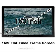 Durável 160-inch tela de projeção quadro fixo tela de projeção frontal 16:9 hdtv compatível para epson benq beamer