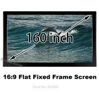 Durable pantalla 160-inch 16:9 hdtv proyector marco fijo pantalla de proyección frontal compatible para epson proyector benq