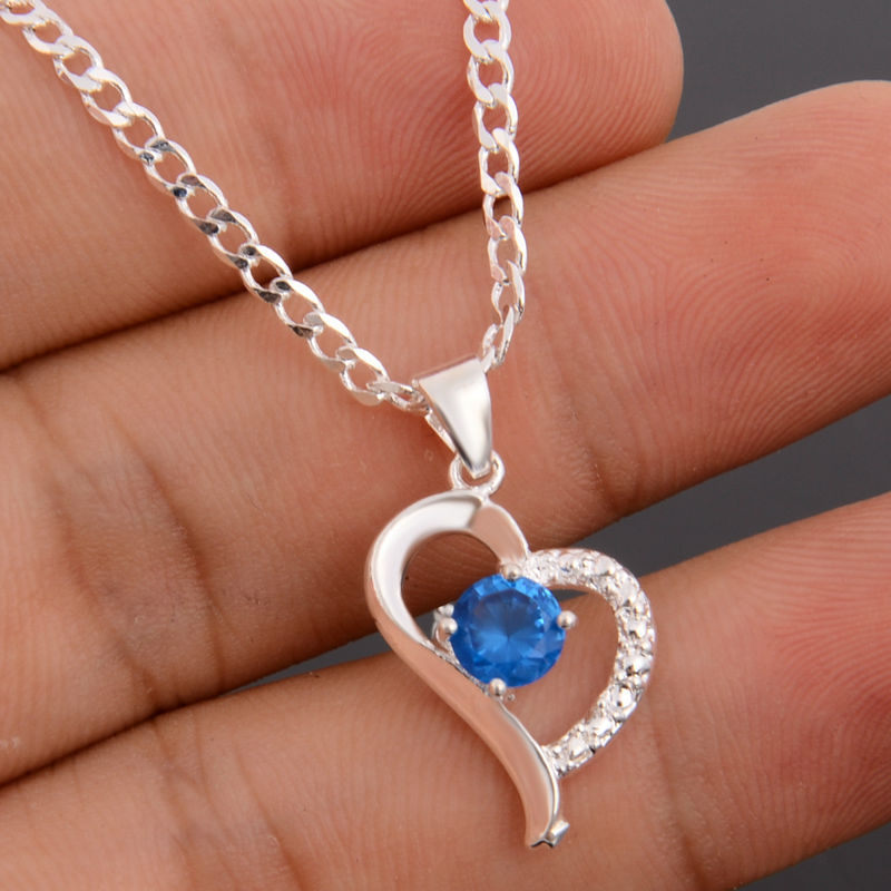 drop shipping jewellery love plated Silver Color pendant stock red blue color love pendant Hot sale Silver Color pendant cheap