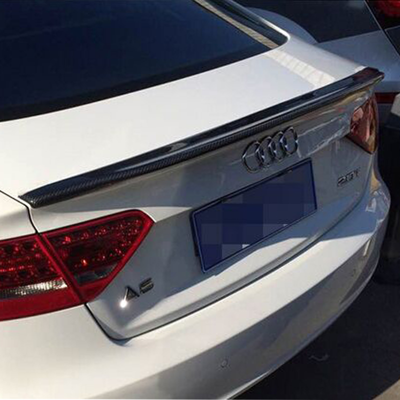 A5 4Door Modified Caractere Style Carbon Fiber Rear Trunk Lip Spoiler Car Wing for Audi A5 Sportback 4Door 2009-2016 pu rear wing spoiler for audi 2010 2011 2012 auto car boot lip wing spoiler unpainted grey primer