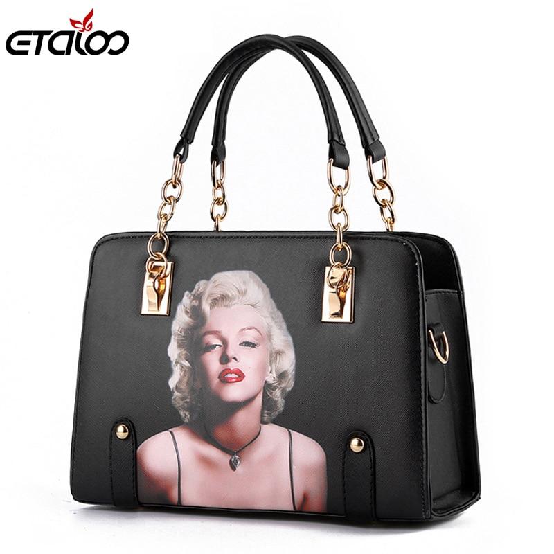 Women bag 2017 new wave bag ladies fashion handbags slung the chain shoulder Tote the wave