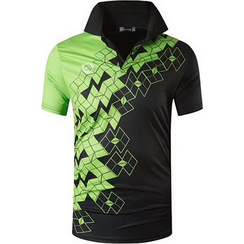 jeansian Mens Sport Tee Polo Shirts Poloshirts Casual Wear Golf Tennis Badminton Dry Fit Short Sleeve LSL224