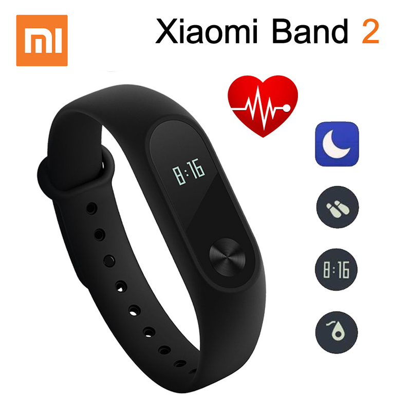 Original Xiaomi Mi Band 2 Smart Fitness Bracelet Watch Wristband Miband OLED Touchpad Sleep Monitor Heart Rate Mi Band2 Freeship цена