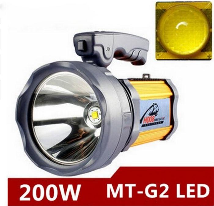 200 w Haute puissance portable lanterne rechargeable étanche Projecteur lampe de Bureau lumière latérale US/EU chargeur à batterie Intégrée