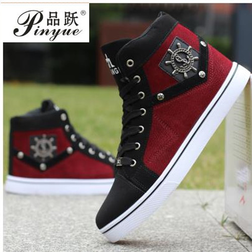 Hot! New Product High Help Men reversed hair Joining together Shoes Non-Slip Breathable Cowboy Canvas rubber Casual Shoes