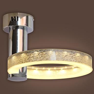 Silver LED  18W LED Integrated Acrylic Chandelier Chrome Finish  Flush Mount Size:27*27*20cm  Free shipping silver led 9w acrylic ceiling light with 2 lights chrome finish size 65 65 20cm 85 265v