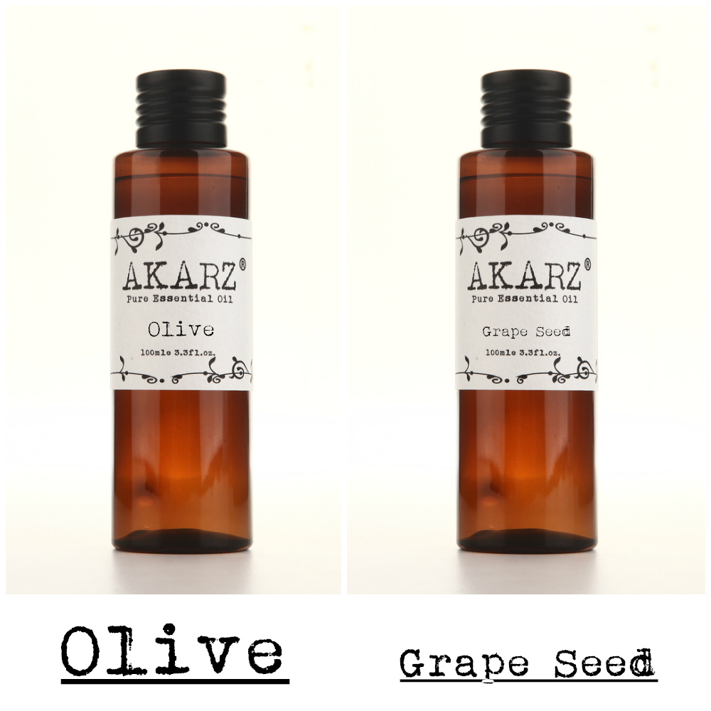 AKARZ Famous brand natural olive grape seed essential oil natural aromatherapy high-capacity skin body care massage 100ml*2 pure natural health care products pomegranate seed extract 900g lot