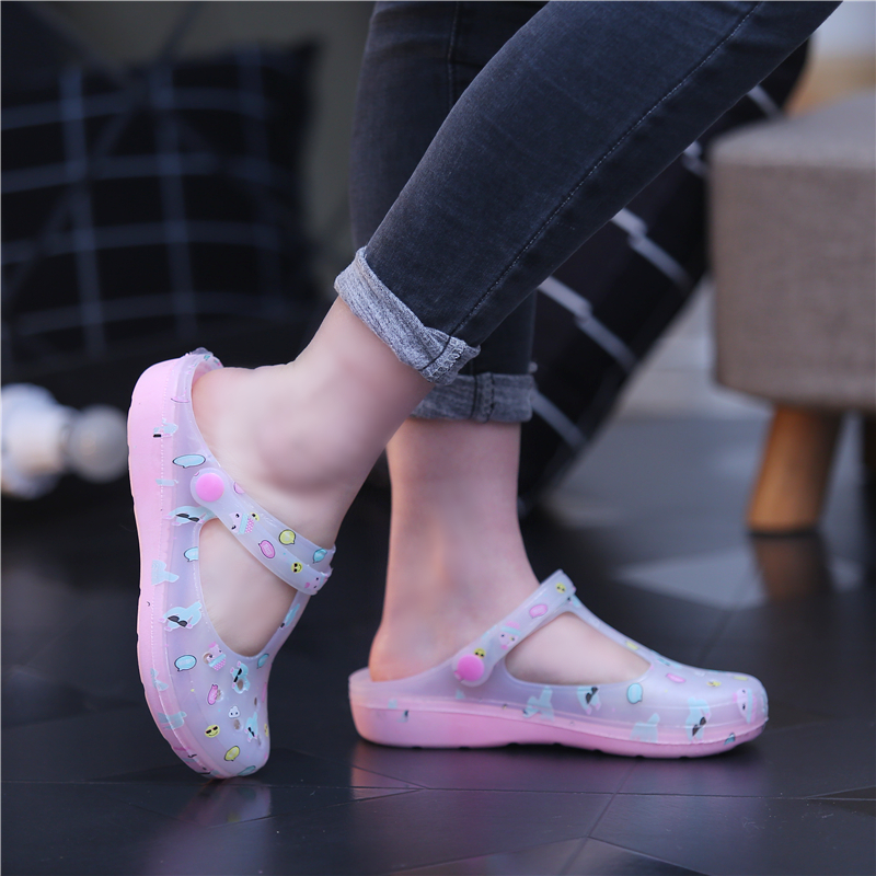 Dropwow Summer New Candy Color Large Size Thick Sandals Woman Croc ... a0b80dc174e4