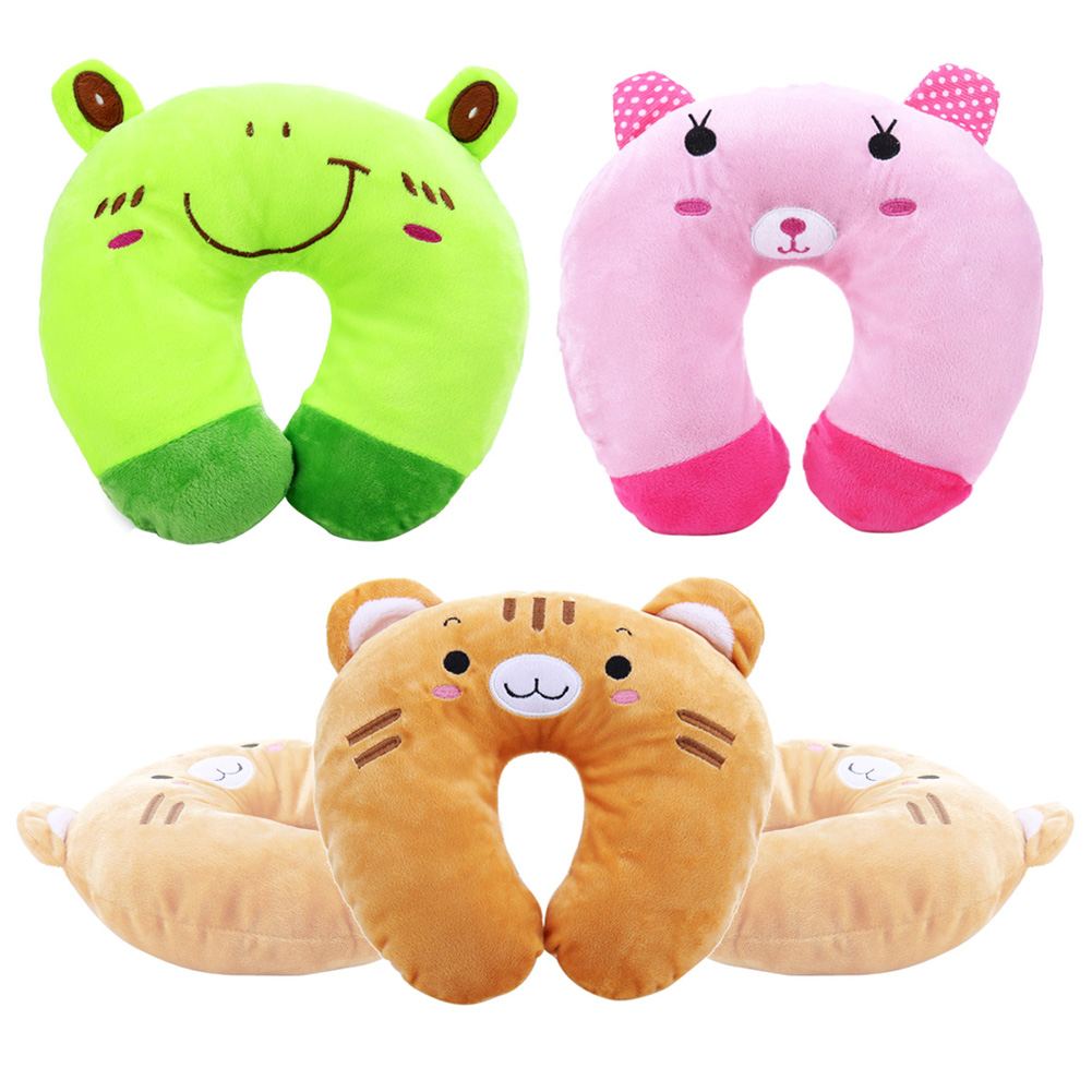 Cute Animal Shaped Pillows : Comfortable Cute Animal U Shape Pillow Neck Travel Pillow Rest Cushion for Adults Children ...