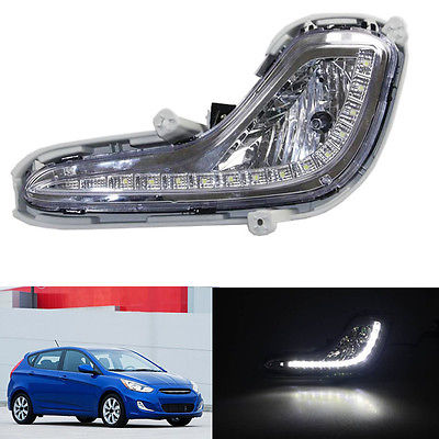 LED Daytime Running Lights DRL High Quality For Hyundai Accent 2012-2016 high quality h3 led 20w led projector high power white car auto drl daytime running lights headlight fog lamp bulb dc12v