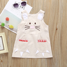 Easter Girl Bunny Ears Overall Dress